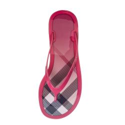 Burberry Women's 'Nova Check' Pink Jelly Flip-Flops - Thumbnail 1