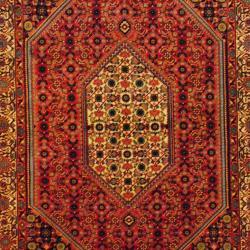 Persian Hand-knotted Bidjar Red/ Ivory Wool Rug (5'2 x 8'2) - Thumbnail 1