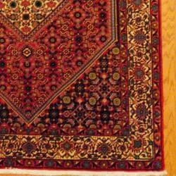 Persian Hand-knotted Bidjar Red/ Ivory Wool Rug (5'2 x 8'2) - Thumbnail 2