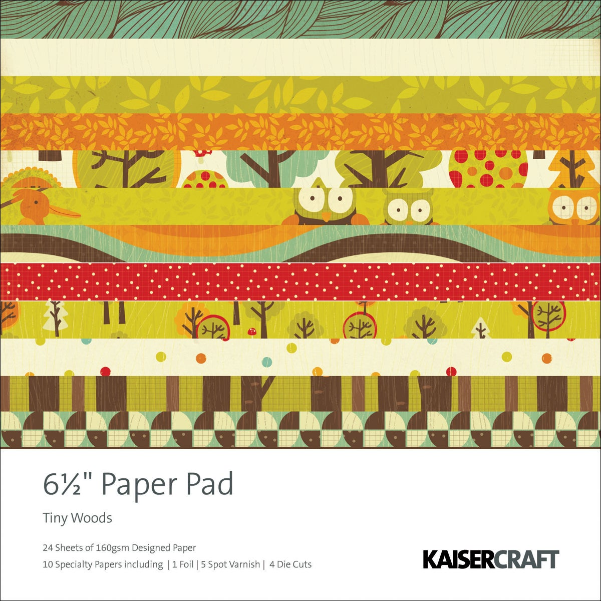 """Tiny Woods Paper Pad 6.5""""X6.5""""-40 Sheets"""