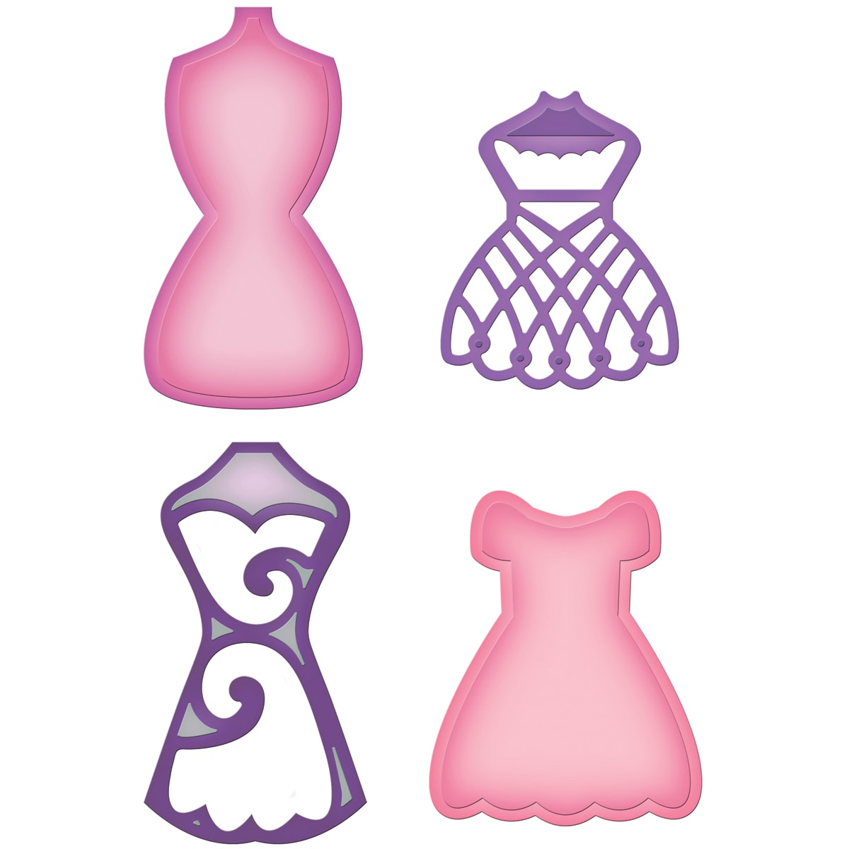 Spellbinders Shapeabilities Dies-Decorative Dress Form