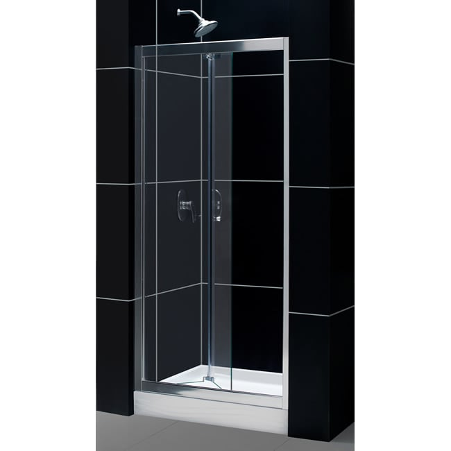 Tub To Shower Kit: Butterfly Shower Door, 32 x 32 TRIO Shower Base