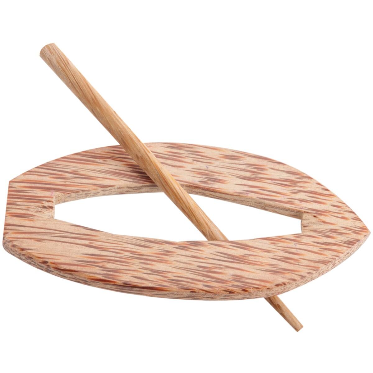 Oblong Shaped Shawl Pin-Palm
