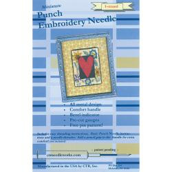 Miniature Punch Embroidery Needle-Blue 1-Strand