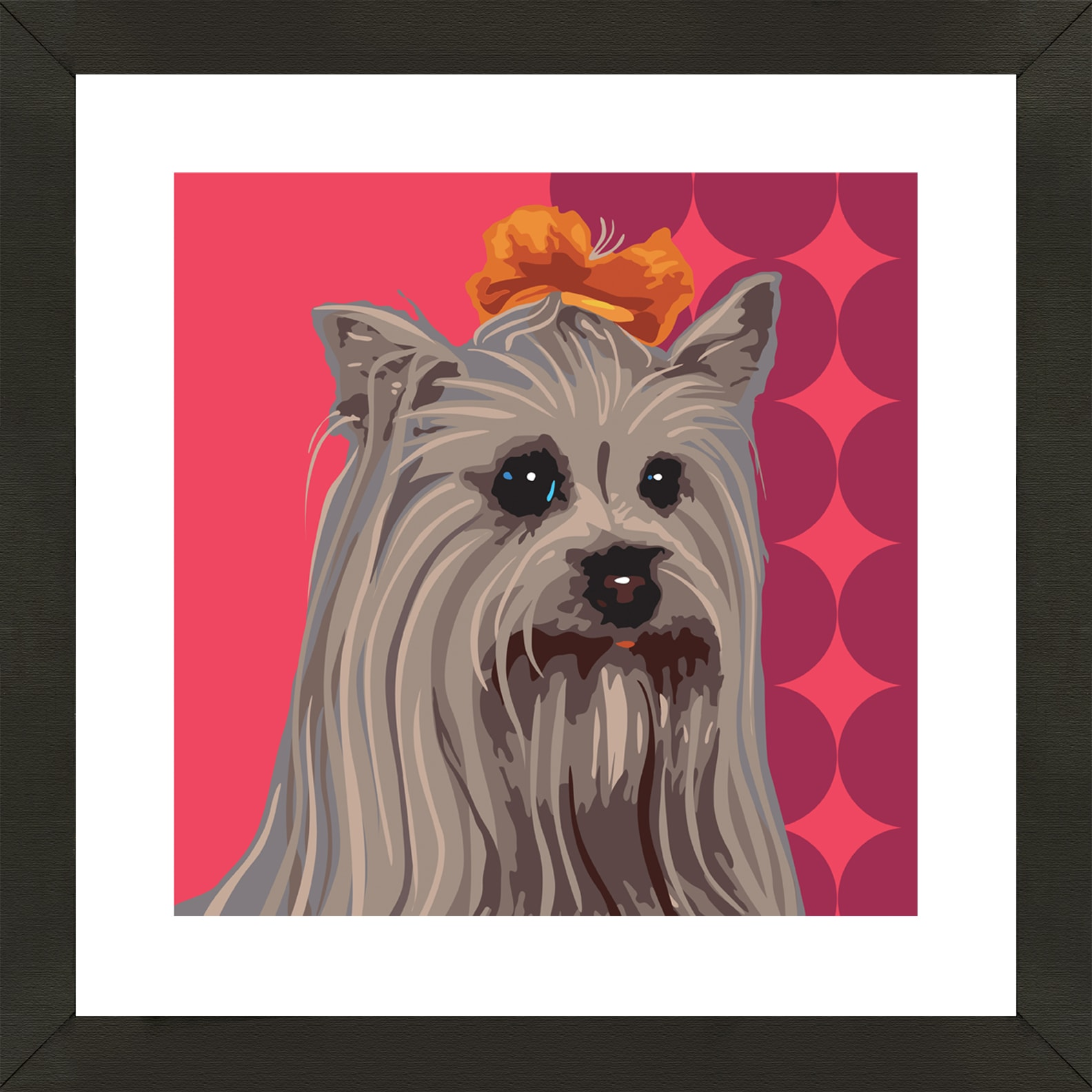 Framed Maltese Giclee Print Photo