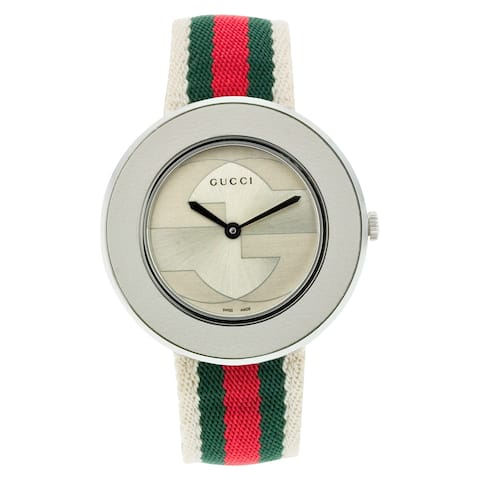 Gucci Women's YA129411 U-Play Medium Multi-Color Nylon Watch