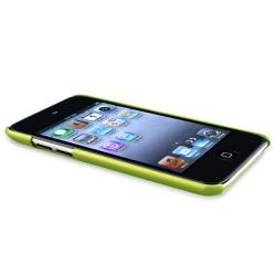Green Case/ Diamond LCD Protector for Apple iPod Touch 4th Generation - Thumbnail 1