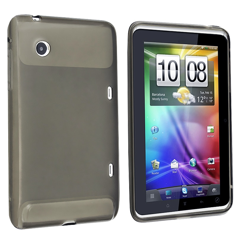 BasAcc Clear Smoke TPU Rubber Skin Case for HTC Flyer