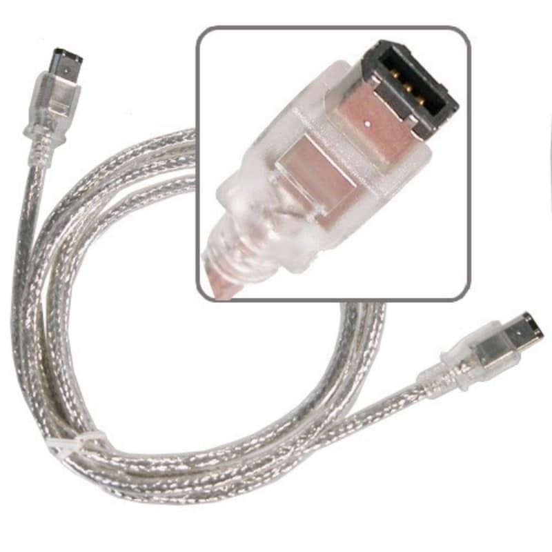 BasAcc 6-foot Translucent IEEE 1394 M/ M 6-pin to 6-pin Firewire Cable