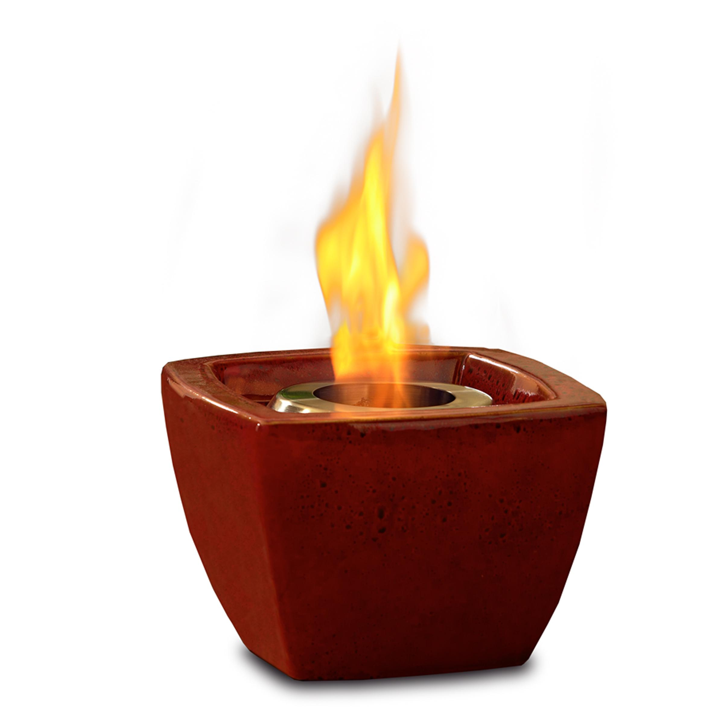 Real Flame Ceramic Fire Pot Red