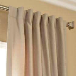 Exclusive Fabrics Cobblestone Cotenza Faux Cotton Curtain Panel - Thumbnail 1