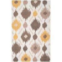 Hand-hooked Brown Benton Area Rug (2'3 x 8')