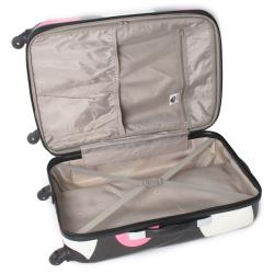 International Traveller Pink Shiny Large Dots 28-inch Hardside Spinner Upright - Thumbnail 1