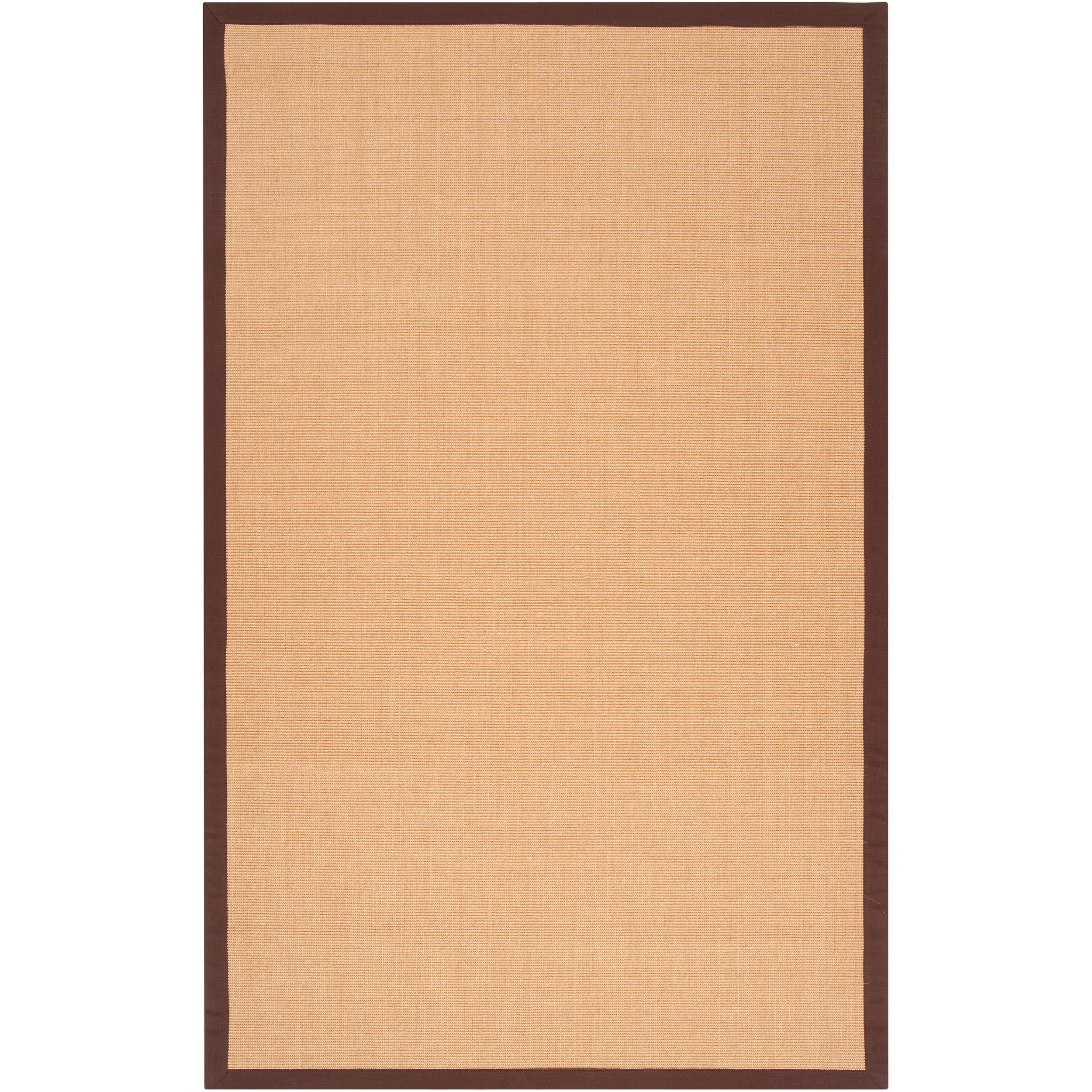 Woven Brown Hillsborough West Natural Fiber Sisal Area Rug (6' x 9') - Thumbnail 0