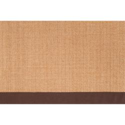 Woven Brown Hillsborough West Natural Fiber Sisal Area Rug (6' x 9') - Thumbnail 1