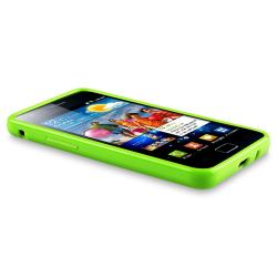 Green TPU Case/ Screen Protector for Samsung Galaxy S II i9100