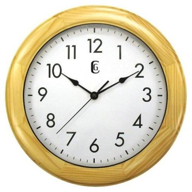 Geneva Pine Wood 12-inch Wall Clock