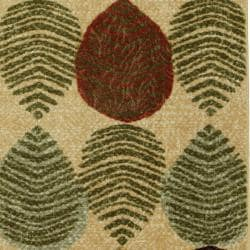 Leaves in Line Beige Rug (5' x 8')