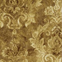 Antique Gold Damask Rug (5' x 8')