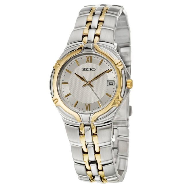 Seiko Men's 'Bracelet' Two Tone Quartz Watch