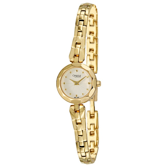Caravelle by Bulova Women's 'Bracelet' Gold Plated Quartz Watch