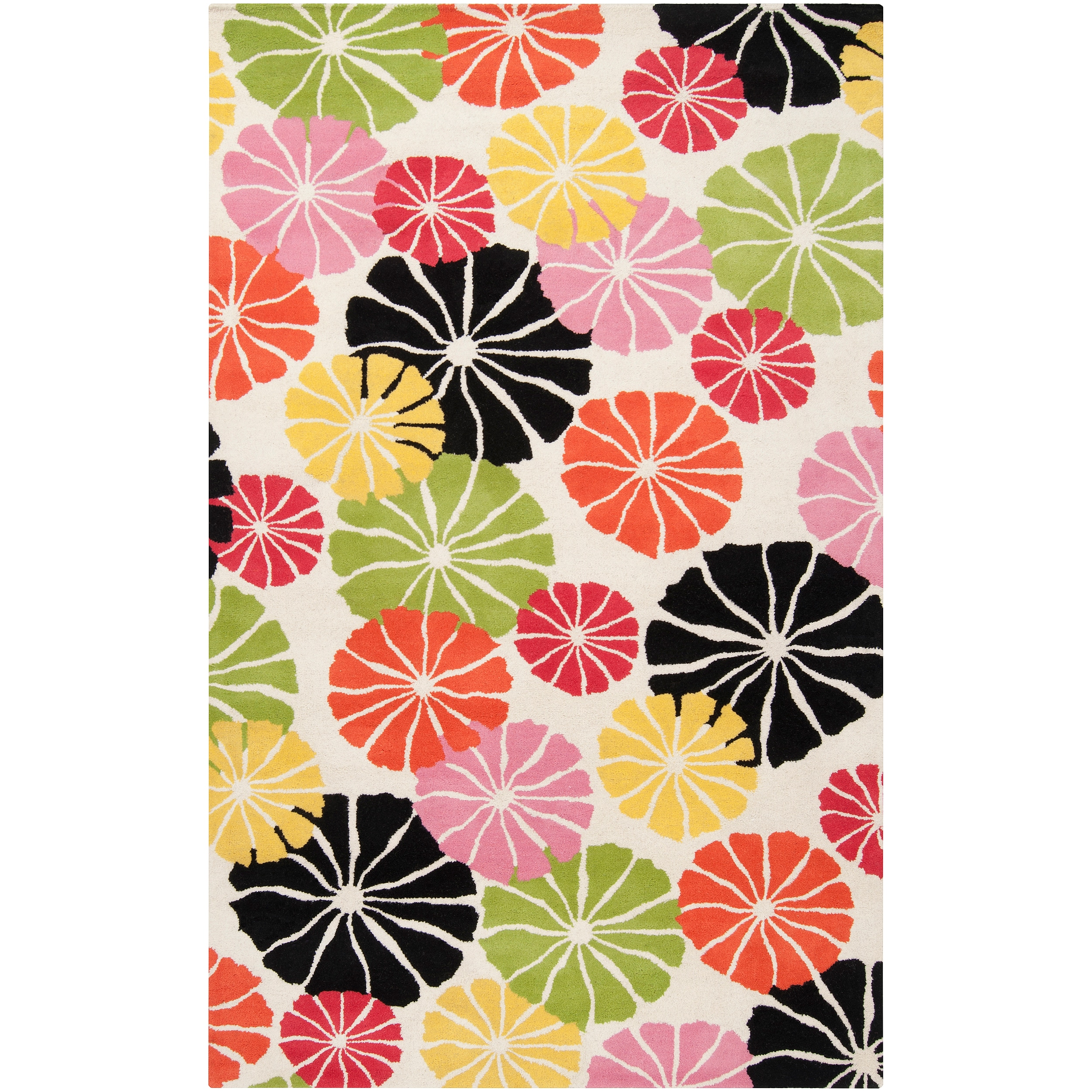 """Tepper Jackson Hand-Tufted Contemporary Abstract Multicolored Floral Dreamscape Wool Rug (3'3"""" x 5'3"""")"""