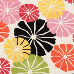 """Tepper Jackson Hand-Tufted Contemporary Abstract Multicolored Floral Dreamscape Wool Rug (3'3"""" x 5'3"""") - Thumbnail 2"""