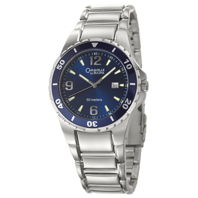 cb8168c9b Shop Caravelle by Bulova Men's 'Sport' Stainless Steel Quartz Watch - Free  Shipping Today - Overstock - 6751527