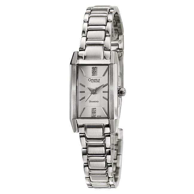 Caravelle by Bulova Women's 'Diamond' Stainless Steel Quartz Watch