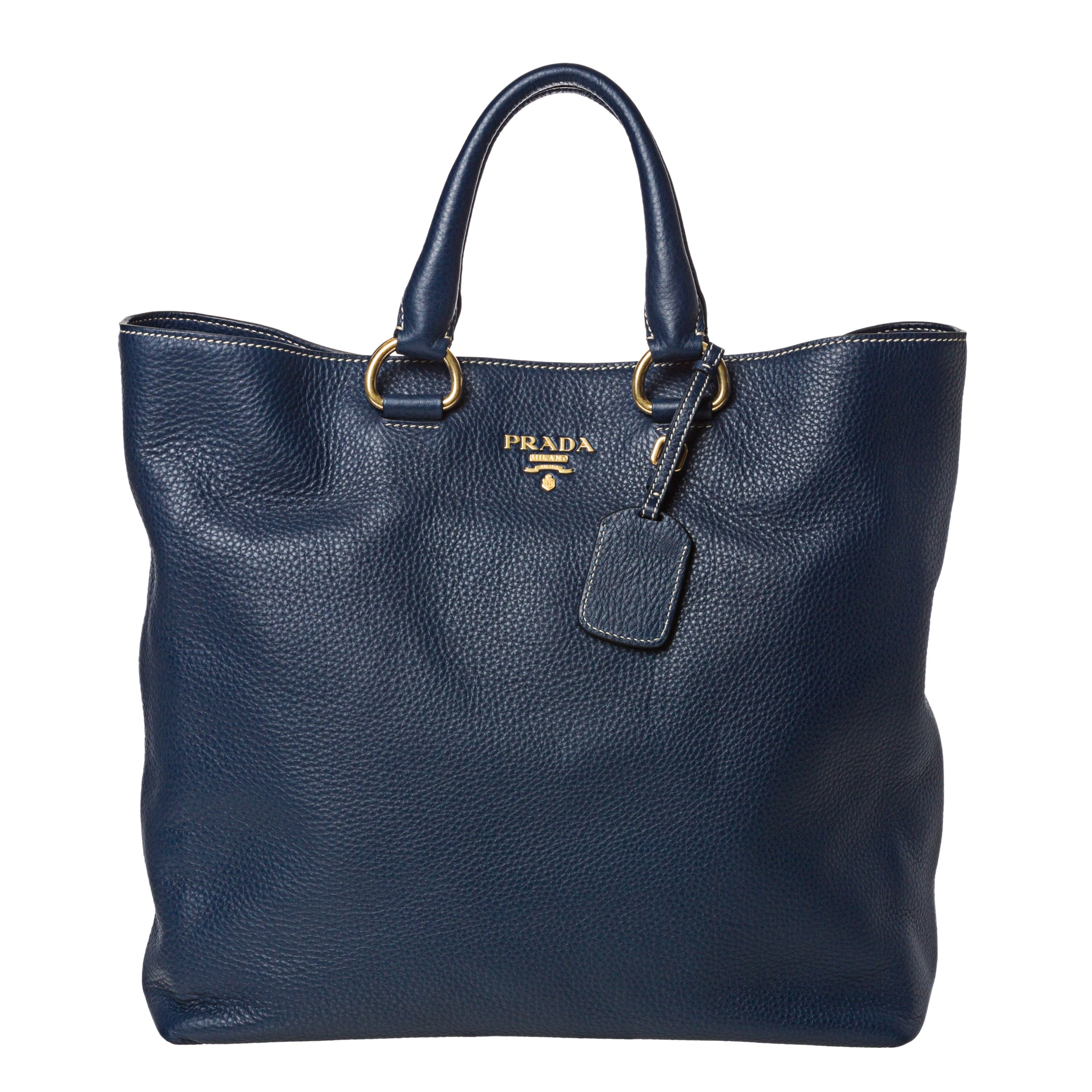 ... cheapest prada x27dainox27 navy leather tote bag e13bd 477ec c8a472e6a0def