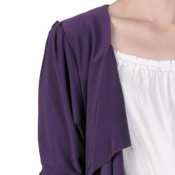 Tressa Designs Women's Stretchy Open Front Ruffled Cardigan