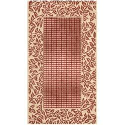 Safavieh Poolside Red/ Natural Indoor Outdoor Rug (2' x 3'7)