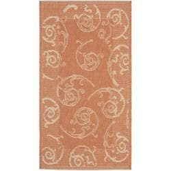 Safavieh Oasis Scrollwork Terracotta/ Natural Indoor/ Outdoor Rug (2' x 3'7)