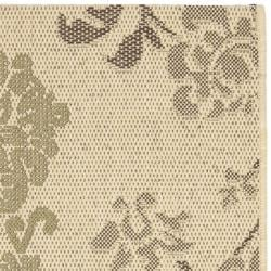 Safavieh Courtyard Floral Natural Brown/ Olive Green Indoor/ Outdoor Rug (2' x 3'7) - Thumbnail 1