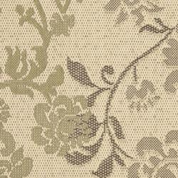 Safavieh Courtyard Floral Natural Brown/ Olive Green Indoor/ Outdoor Rug (2' x 3'7) - Thumbnail 2