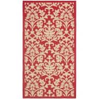 "Safavieh Seaview Red/ Natural Indoor/ Outdoor Rug (2' x 3'7"")"