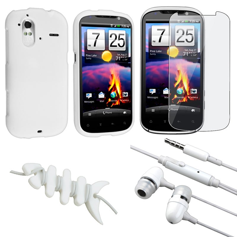White Case/ Screen Protector/ Headset/ Wrap for HTC Amaze 4G