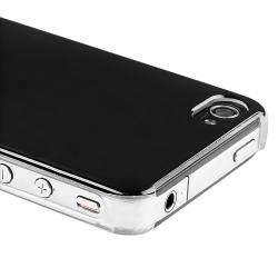 Shiny Black Case/ Screen Protector/ Car Charger for Apple iPhone 4S