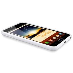 White TPU Case/ Car and Travel Chargers for Samsung Galaxy Note N7000