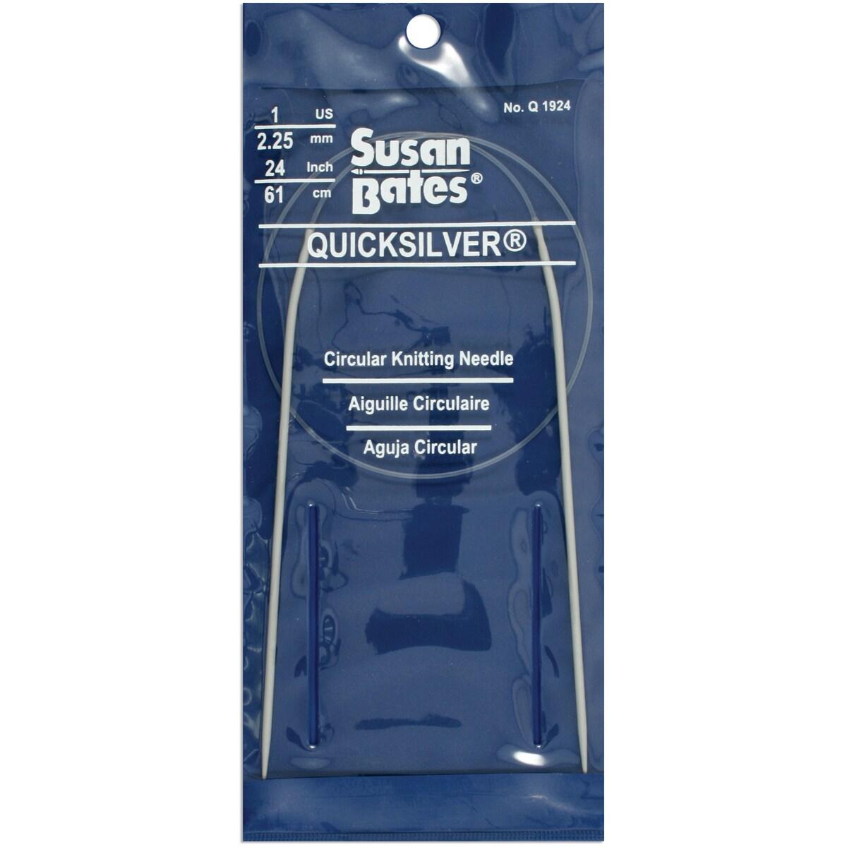 """Quicksilver Circular Knitting Needle 24""""-Size 1"""