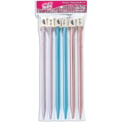 "Silvalume 10"" Aluminum Knitting Needles Gift Set - Three Pair"