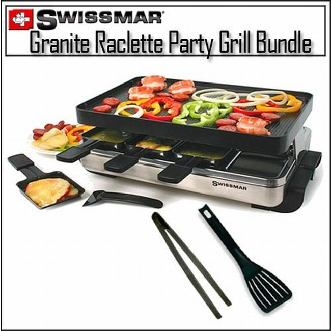 Swissmar Granite Stone Party Grill and Utensil Kit