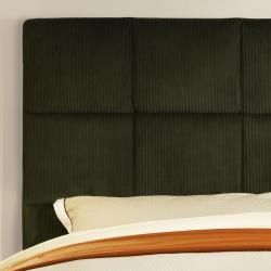 Sarajevo Moss Corduroy Queen Size Bed - Thumbnail 1