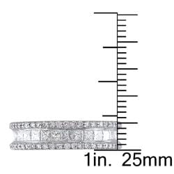 Miadora 18k White Gold 2-3/8ct TDW Diamond Eternity Ring     (Size 8) - Thumbnail 2