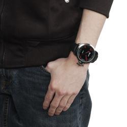 Geneva Platinum Men's Silicone Watch - Thumbnail 2