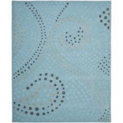 Safavieh Handmade Journey Light Blue Wool Rug (8' x 10')
