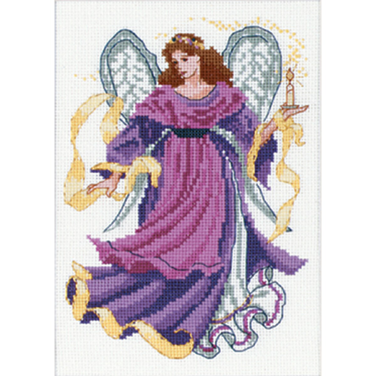 "Angel Of Light Mini Counted Cross Stitch Kit-5""X7"""