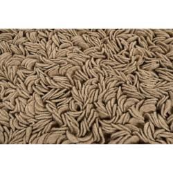Hand-woven Tan Caparo Street Plush Shag New Zealand Felted Wool Rug (5' x 8') - Thumbnail 2