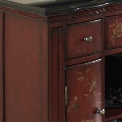 Hand-painted Distressed Burnt Red Accent Chest - Thumbnail 1