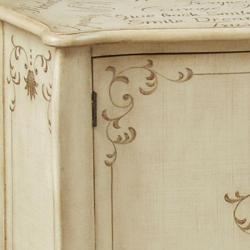 Hand-painted Distressed Cream Accent Chest - Thumbnail 2